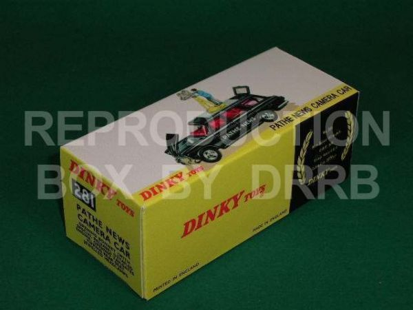 Dinky #281 Pathe News Camera Car - Reproduction Box
